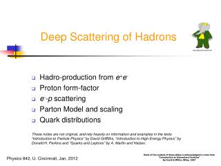 Deep Scattering of Hadrons