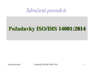 Požadavky ISO/DIS 14001:2014