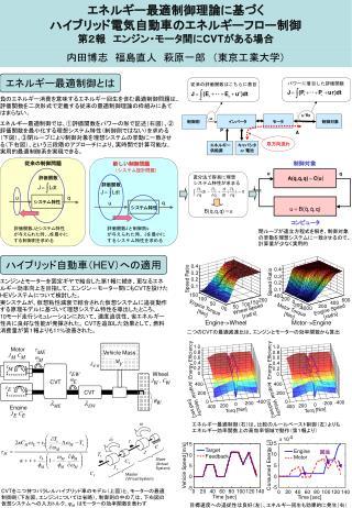 エネルギー最適制御理論に基づく ハイブリッド電気自動車のエネルギーフロー制御 第2報 エンジン・モータ間に CVT がある場合