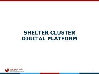 SHELTER CLUSTER  DIGITAL PLATFORM