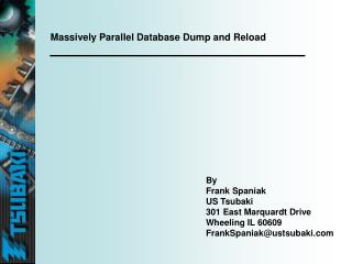 Massively Parallel Database Dump and Reload