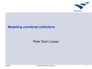 Modelling unordered collections