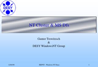 NT Cluster & MS Dfs