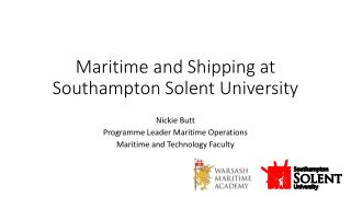 Maritime and Shipping at Southampton Solent University