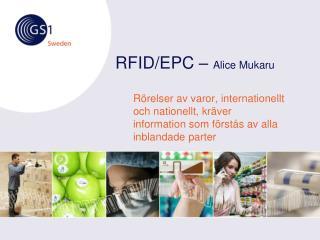 RFID/EPC –  Alice Mukaru