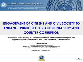Presentation at the Meeting to Commemorate the UN International Anticorruption Day