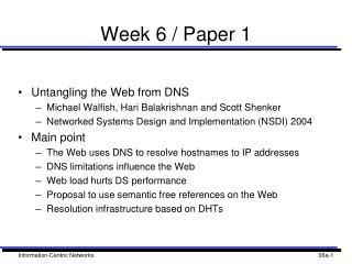 Week 6 / Paper 1