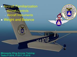 Minnesota Wing Aircrew Training:  Tasks P-2016, P-2017, P-2018