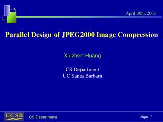 Parallel Design of JPEG2000 Image Compression