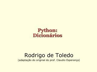 Python: Dicionários