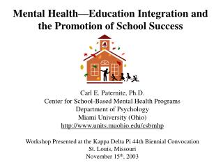 Mental Health Education Integration and the Promotion of School Success