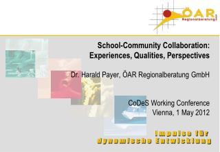 School-Community Collaboration:  Experiences, Qualities, Perspectives