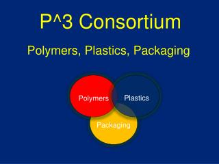 P^3 Consortium  Polymers, Plastics, Packaging