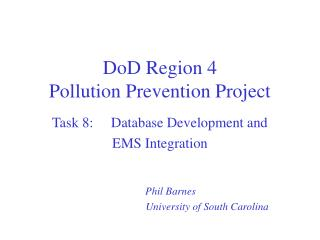 DoD Region 4  Pollution Prevention Project