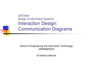 ZEIT2301 Design of Information Systems Interaction Design:  Communication Diagrams