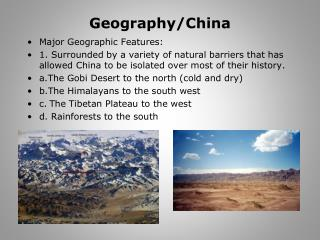Geography/China