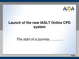 Launch of the new IASLT Online CPD system