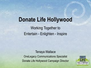 Working Together to Entertain - Enlighten - Inspire