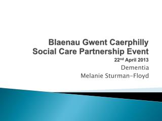 Blaenau Gwent Caerphilly Social Care Partnership Event 22 nd  April 2013