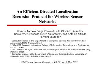 An Efficient Directed Localization Recursion Protocol for Wireless Sensor Networks