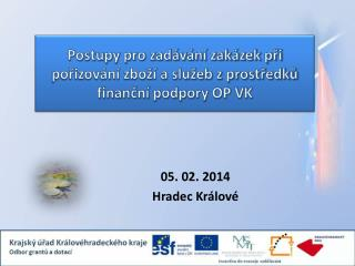 Postupy pro zadávání zakázek při pořizování zboží a služeb z prostředků finanční podpory OP VK