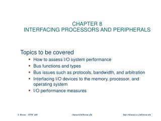 CHAPTER 8 INTERFACING PROCESSORS AND PERIPHERALS