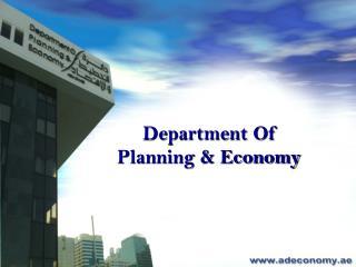 Department Of  Planning & Economy