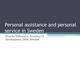 Personal assistance and personal service in Sweden