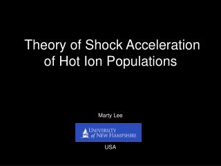Theory of Shock Acceleration of Hot Ion Populations
