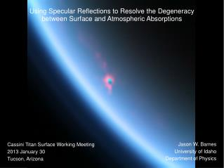 Using Specular Reflections to Resolve the Degeneracy  between Surface and Atmospheric Absorptions