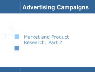 Market and Product Research: Part 2