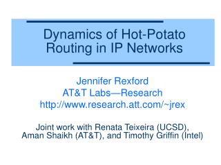 Dynamics of Hot-Potato  Routing in IP Networks