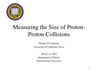 Measuring the Size of Proton-Proton Collisions