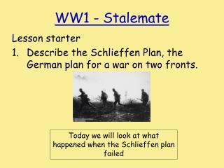 WW1 - Stalemate