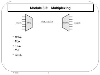 Module 3.3:   Multiplexing