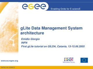 gLite Data Management System  architecture