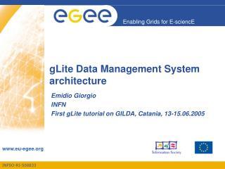 gLite Data Management System  architecture