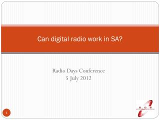 Can digital radio work in SA?