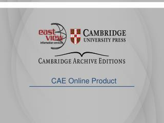 CAE Online Product