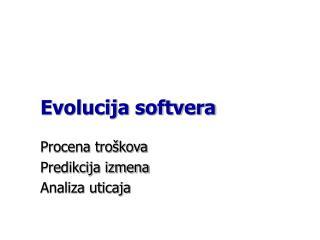 Evolucija softvera