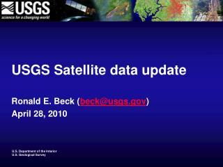 USGS Satellite data update