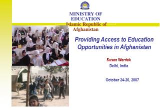 Providing Access to Education Opportunities in Afghanistan