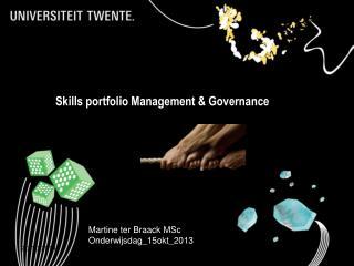 Skills portfolio Management & Governance