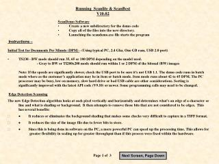 Running  Scanlite & ScanBest V10.02