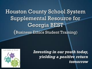 Investing in our youth today, yielding a positive return tomorrow