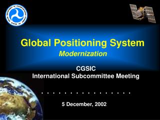 Global Positioning System Modernization