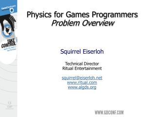 Physics for Games Programmers   Problem Overview