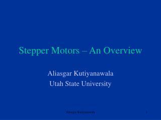 Stepper Motors   An Overview