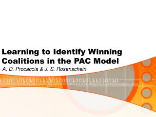 Learning to Identify Winning Coalitions in the PAC Model