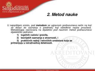 2. Metod nauke